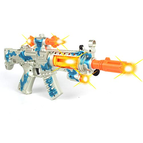 Anstoy Toy Machine Gun with Lights and Sounds Electric Toy Sniper Rifle Military Role Playing Gifts for Kids