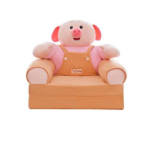 NXYJD Muebles para niños, Funda de sofá pequeña para niños, Cerdo de Dibujos Animados, Princesa, niña, bebé, Asiento Plegable, sillón reclinable, sofá Cama Individual Perezoso (Color : B)