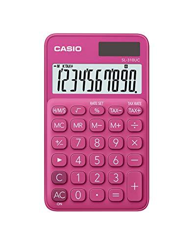 CASIO Taschenrechner SL-310UC, 10-stellig, Trendfarben, Steuerberechnung, Tausenderunterteilung, Solar-/Batteriebetrieb