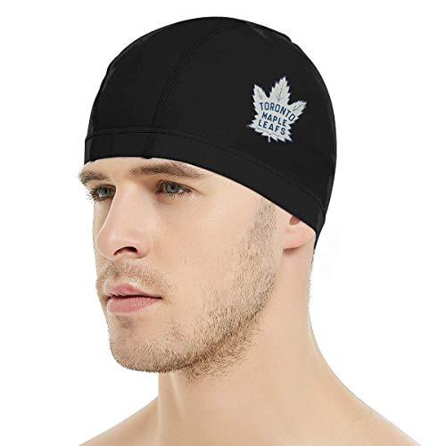Dunpaiaa Hockey-Logo-Toronto-Maple-Leafs Swim Cap, 3D Ergonomic Design Swimming Cap for Women Men Long Hair Short Hair Adult Swim Cap