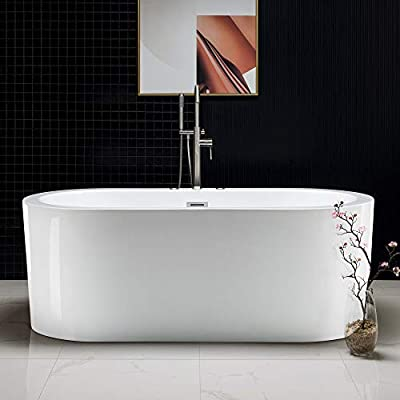 """67""""x32"""" Water Jetted and Air Bubble Freestanding Bathtub"""