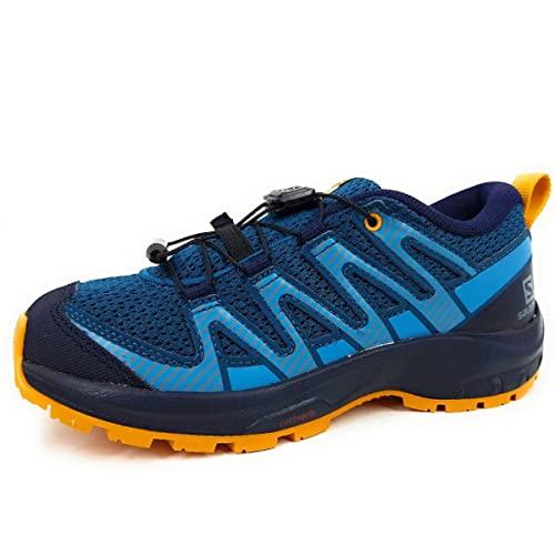 Salomon XA Pro V8 Kinder Trailrunning-Schuhe, Blau (Legion Blue/Night Sky/Autumn Blaze), 39 EU