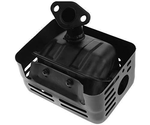Create Idea Auspuff Schalldämpfer Silencer schwarz Exhaust & Dichtung KOMPATIBEL MIT Honda GX110 GX120 GX140 GX160 & GX200
