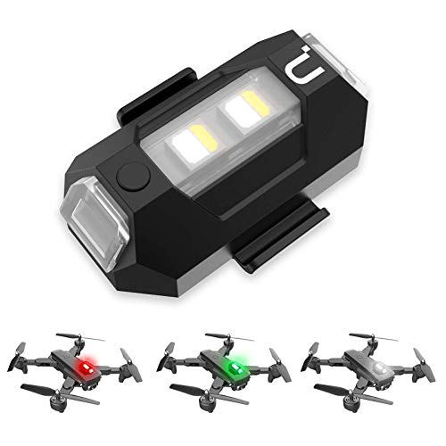 Drone Strobe Lights, Anti-Collision Lighting, 0.014 lbs Super Lightweight Drone LED Lights with 3 Colors for Any Drone | DJI Mini, Mavic Mini, Phantom, Inspire, Matrice