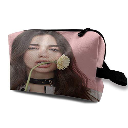 Dua Lipa Storage Travel Cosmetic Case Cosmetic Bag Portable Travel Bag Art Storage Bag
