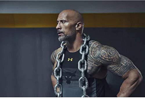 liujiu The Rock Dwayne Johnson Fitness Bodybuilding Canvas Wall Art Poster e impresiones para la decoración de la pared del hogar Imágenes Regalo -20x28 pulgadas Sin marco 1 pieza