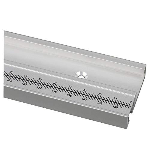 Aluminiumlegering T-rails model 45 T-groef en standaard verstekstop houtbewerkingsgereedschap voor werkbank freestafel met zelfklevende metrische schaal 800MM