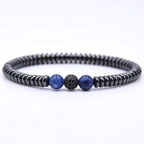 Pulsera Joyas Bracelet Tiger Eye Stone Beads Men's Stretch Bracelets Zirconia Disco Ball Strand Bracelet Mens Pulsera Punk Jewelry Gift