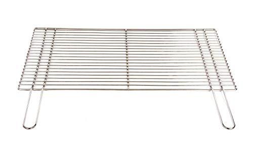 Grillrost 67 x 40 cm mit Griff aus Edelstahl 4 mm rostfrei und elektropoliert