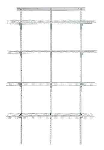 ClosetMaid 2845 ShelfTrack 4ft. Pantry Organizer Kit, White