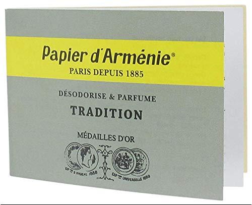 Papier d'Arménie - Carnet de 12 feuilles de 3 lamelles - Désodorise & Parfume - Tradition