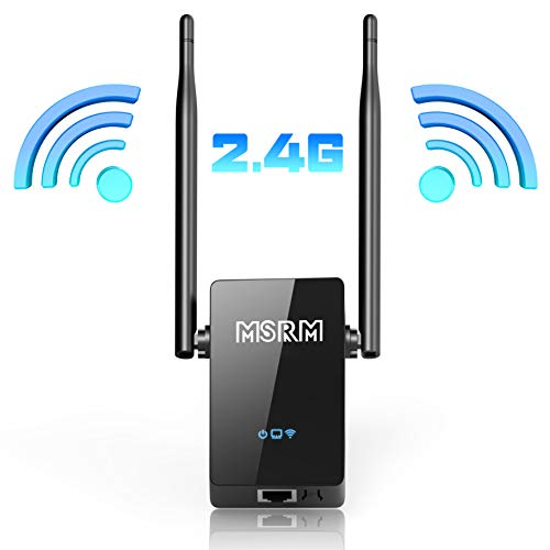 USMSRM 300Mbps Wi-Fi Range Extender with High Gain Dual External Antennas for 360 Degree WiFi Covering Repeater