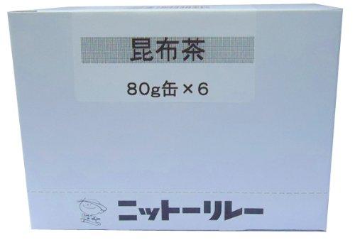 ニットーリレー 昆布茶 80g×6缶
