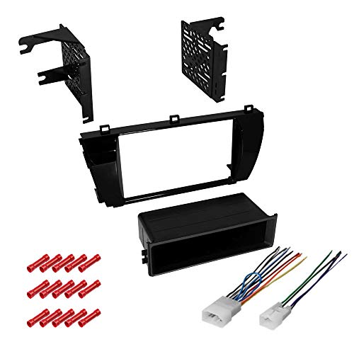 CACHÉ KIT560 Bundle with Car Stereo Installation Kit for 2014 – 2016 Toyota Corolla WithGrey Dash – in Dash Mounting Kit, for Single Double Din Radio Receiver (3 Item)