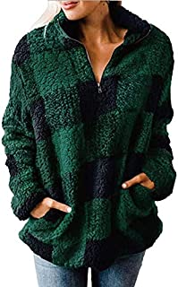 【SUNKAKU】レディース ボアジャケット ボア ジップアップ シャツ 起毛 フリース 軽量 防寒 保温 大きいサイズ アウトドア キャンプ カジュアル