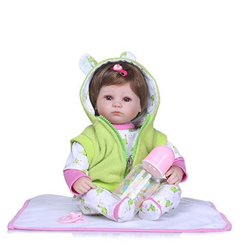 MineeQu Bambole per neonati appena nate e rari da 16 pollici che sembrano vere e reali, Bambole Preemie fatte di vinile simil-silice e corpo ponderato