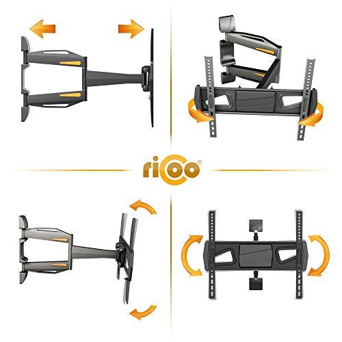 RICOO Fernsehhalterung S0944 Wandhalterung TV Schwenkbar Neigbar Halterung Wandhalter LED LCD Flachbild-Fernseher 76-140cm/30-42-50-55 Zoll - 3