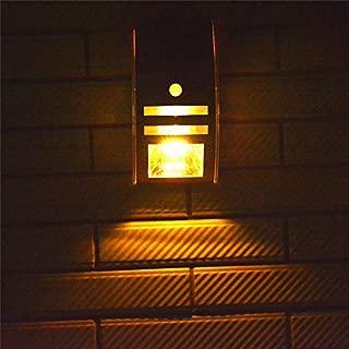 壁のテラスの柵の階段のためのLEDの太陽ライト太陽庭ライト5LEDS動きセンサーが付いているステンレス鋼の防水屋外ライト