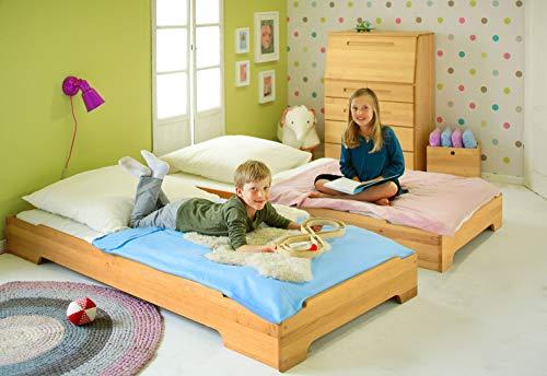 Cama baja de madera para colchón de 90 x 200 cm