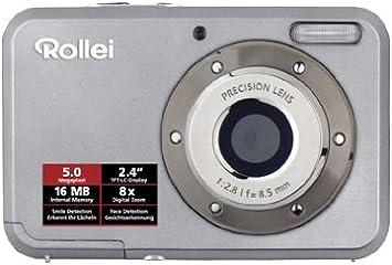 Rollei Compactline 52 Digitalkamera 5 Megapixel 8 Fach Digital Zoom 6 1 Cm 2 4 Zoll