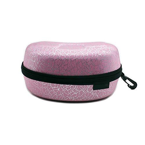 DAYOLY Ski- / Schwimmbrillenetui, für Erwachsene, tragbar, mit Brillenschutz, wasserdichte Aufbewahrungsbox mit Reißverschluss, für Snowboard- / Ski- / Schwimmen, Pink + Silver
