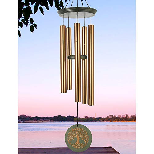 Wind Chimes Outdoor Large Deep Tone, 36 Inch Memorial Windchime Unique Outdoor for Loss Loved One Engraved Tree of Life, Large Wind Chimes Outdoor Sympathy Gift for Mother Father ,Garden Decor