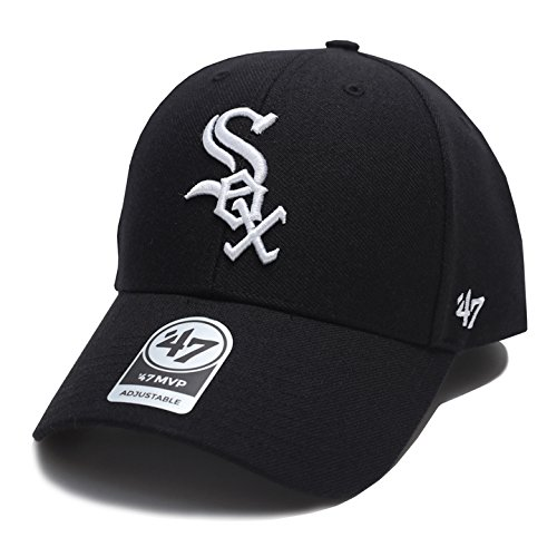 【B-MVP06WBV-HM】 フォーティーセブンブランド 47BRAND ローキャップ シカゴ ホワイトソックス コラボ CAP 帽子 黒 MLB メジャーリーグ 正規品 (01)黒 Fサイズ