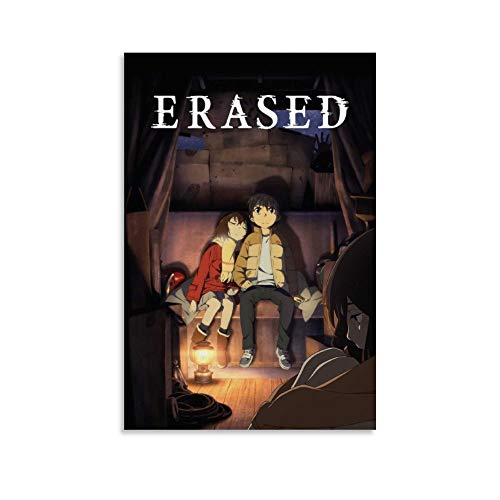 IKJHG Erased Anime Poster Decorative Painting Canvas Wall Art Living Room Posters Bedroom Painting 12x18inch(30x45cm)
