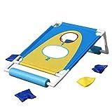 Juegos de Bean Bag, Cornhole Bean Bag Toss Juego de acción Pool Sacos de arena Juego de rebote y tiro de agua Juego de juguete de agua objetivo flotante, Juegos de juego de Bean Bag