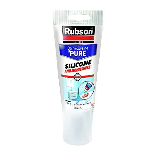 Rubson Bain & Cuisine Pure Silicone Anti-Moisissures blanc, mastic sanitaire à...