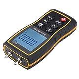 【𝐂𝒚𝐛𝐞𝐫 𝐌𝐨𝐧𝐝𝐚𝒚】Medidor de presión de aire, con bolsa de transporte con juego de manómetro diferencial de cabezal de presión, sistema de ventilación