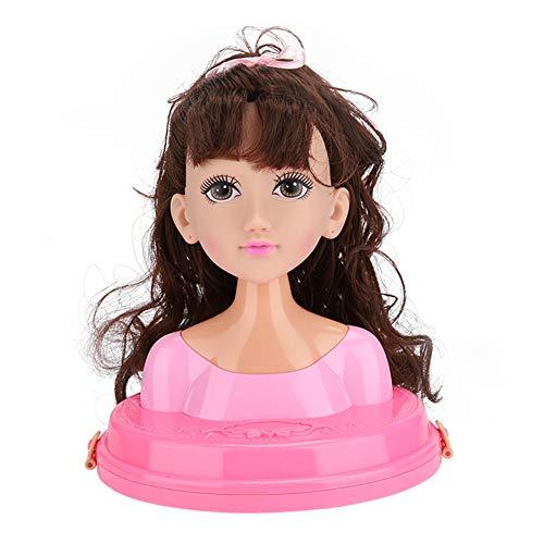 Zhjvihx Cabeza de muñeca, Cabeza de Peinado de Princesa de peluquería, Juguetes de Maquillaje de Belleza para niños niñas(MY319-6, Santa Claus)