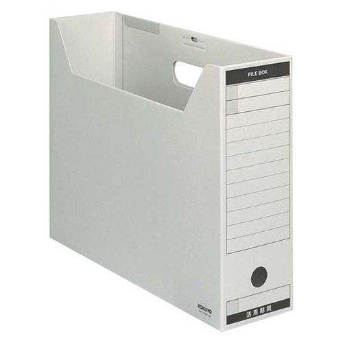 KOKUYO ファイルボックス-FS Bタイプ (色厚板紙タイプ) B4判 ヨコ型 背幅102mm グレー 5冊入 B4-LFBN-M
