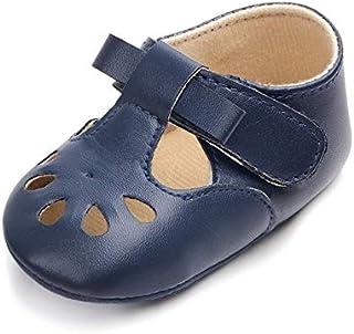 Produits pour bébés LGMIN Princesse Baby Girl Anti Slip évider First Walkers PU Chaussures en Cuir, Pointure: 12cm (Rose) ...
