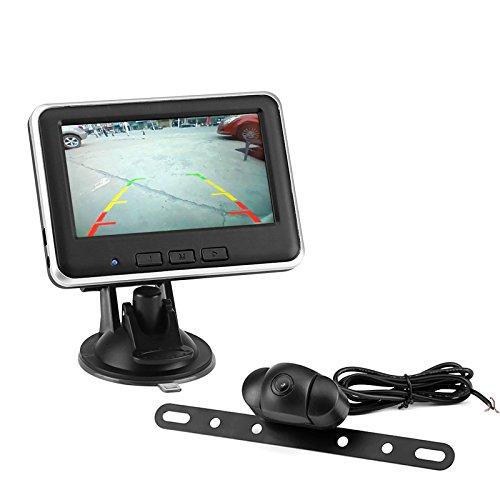 Kit de caméra de recul de recul sans fil – BW Rétroviseur avec moniteur et caméra de recul véhicule 12 De0gree FOC, écran 10,9 cm, jusqu'à 150 m de plage de la transmission