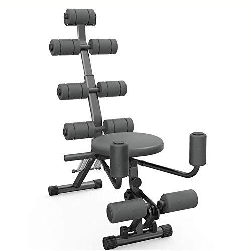 H.aetn Abs Rocket Chair Abdominal All-in-One Fitness Ajustable, Gimnasio Entrenamiento de Entrenamiento Entrenador Ejercitador Crunches Machine Bench Gimnasio en casa