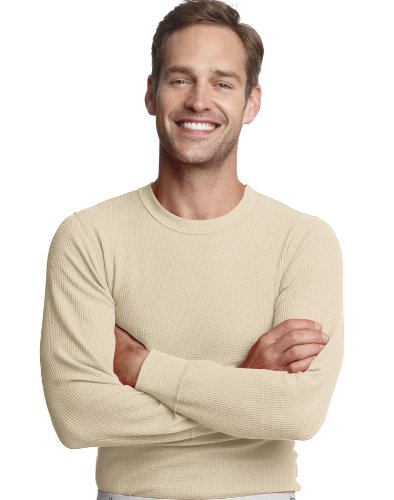 Hanes Men's X-Temp Thermal Long-Sleeve Top, Natural, XX-Large