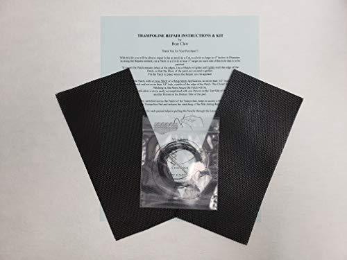 Trampoline Mat Repair Kit - Repair Holes or Tears -Two Repair Patches