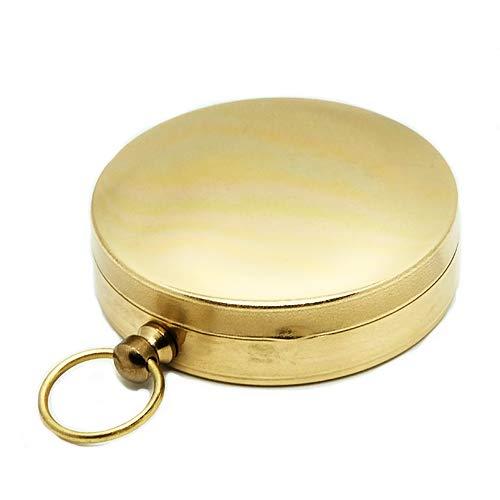真鍮 オイルコンパス(蓋付き)方位磁石 携帯 ブラス 旅行グッズ 方角 風水 方位磁針 羅針盤 地図 ゴールド 恵方巻 東西南北