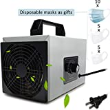 Pearlead 110V 20g/h Multifunctionl Portable Ozone Generator with Timing Switch Air Purifier Deodorizer Sterilizer Odor Eliminator Machine Air Cleaner for Home and Commercial