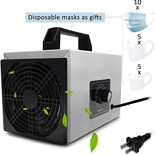 Sale!! Pearlead 110V 20g/h Multifunctionl Portable Ozone Generator with Timing Switch Air Purifier D...