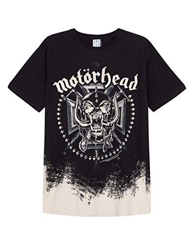 Amplified - Motörhead Rock Band Herren T-Shirt - Ombre Logo (S-XL) (Medium, Grau)
