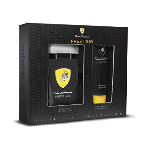 Tonino Lamborghini • Das Geschenkset für Männer PRESTIGIO: Eau de Toilette Spray 75 ml / 2.5 fl.oz. + After Shave Balm 100 ml / 3.4 fl.oz. • Kollektion Lifestyle