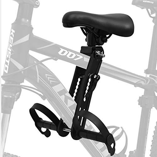 TFCFL Asiento de bicicleta para niños ajustable, color negro, asiento para niños para bicicleta de montaña, instalación rápida