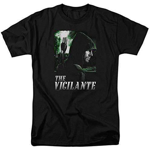 Arrow TV Show The Vigilante DC Comics T Shirt & Stickers (Medium) Black