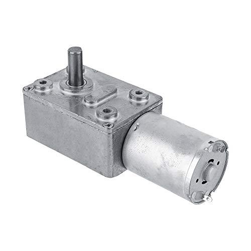 DC 12V Reversible Hochdrehmoment Turbo Schnecke Getriebe Gleichstrommotor Geschwindigkeitsreduzierung Elektromotor Total Metall 5/6/20/40/62 (U/MIN)(6RPM)