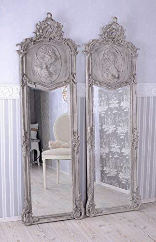 Zwei Spiegel Shabby Chic Wandspiegel Rokoko Frauenbüste Antik Barock Rokoko Palazzo Exklusiv