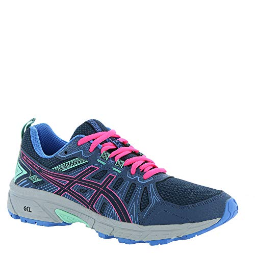 ASICS - Kids Gel-Venture 7 GS Shoes, Size: 5 M US Big Kid, Color: Peacoat/Hot Pink