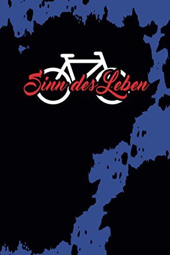 Sinn des Lebens: blau schwarzes grunge Notizbuch Tagebuch Fahrrad Mountainbike BMX MTB Leeres Notizbuch Tagebuch Logbuch Skizzenbuch DIN A5 120 punktiert-linierte Seiten
