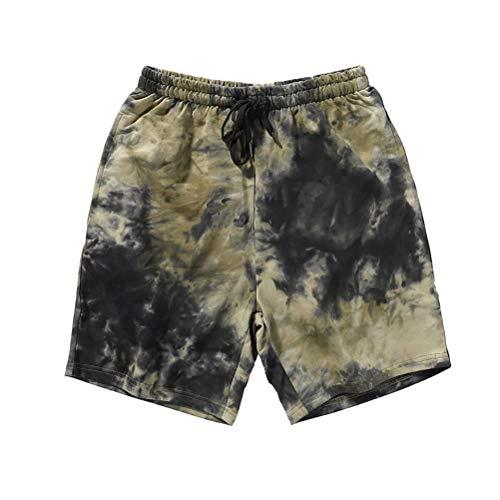 Whittie Pantalons De Plage Hommes Lâches Cinq Points Shorts D'été Colorés Décontractés Vacances à La Mer Gros Pantalons,01,M